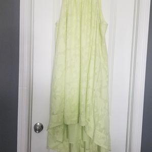 Lime green summer dress